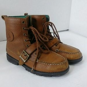 POLO Ralph Lauren Boys Size 4 Tan Boots Ranger II